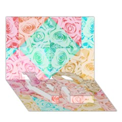 A Rose Is A Rose LOVE Bottom 3D Greeting Card (7x5)