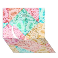 A Rose Is A Rose Circle 3d Greeting Card (7x5)