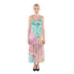 A Rose Is A Rose Sleeveless Maxi Dress