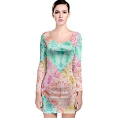 A Rose Is A Rose Long Sleeve Bodycon Dress