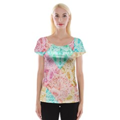 A Rose Is A Rose Women s Cap Sleeve Top