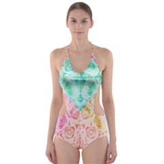 A Rose Is A Rose Cut-Out One Piece Swimsuit