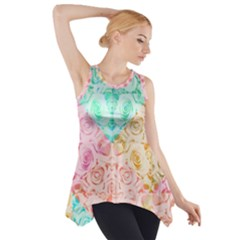 A Rose Is A Rose Side Drop Tank Tunic