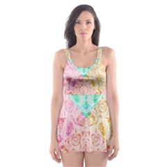 A Rose Is A Rose Skater Dress Swimsuit