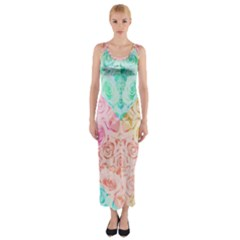 A Rose Is A Rose Fitted Maxi Dress