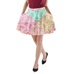 A Rose Is A Rose A-Line Pocket Skirt