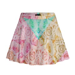 A Rose Is A Rose Mini Flare Skirt