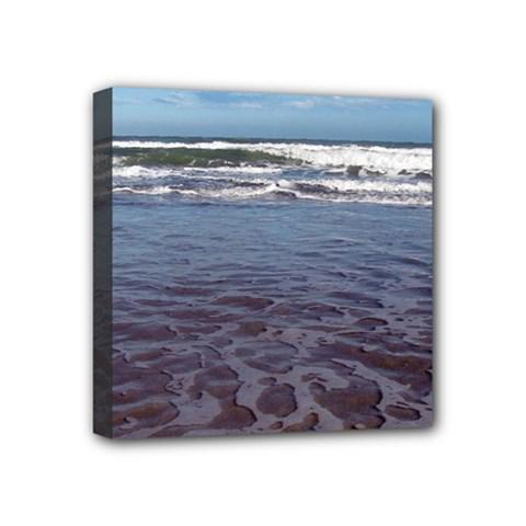 Ocean Surf Beach Waves Mini Canvas 4  x 4