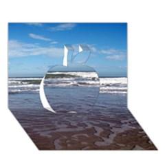 Ocean Surf Beach Waves Apple 3D Greeting Card (7x5)