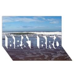 Ocean Surf Beach Waves BEST BRO 3D Greeting Card (8x4)