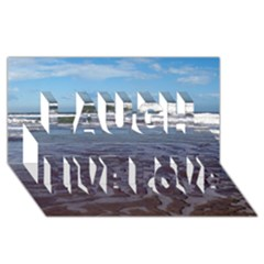Ocean Surf Beach Waves Laugh Live Love 3D Greeting Card (8x4)