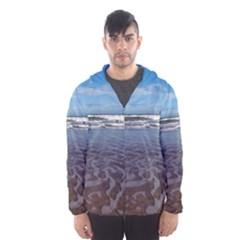 Ocean Surf Beach Waves Hooded Wind Breaker (Men)