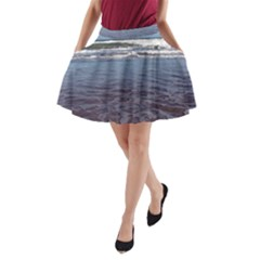 Ocean Surf Beach Waves A-Line Pocket Skirt