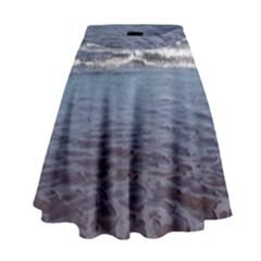 Ocean Surf Beach Waves High Waist Skirt