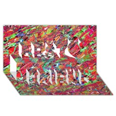 Expressive Abstract Grunge Best Friends 3D Greeting Card (8x4)