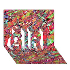 Expressive Abstract Grunge GIRL 3D Greeting Card (7x5)