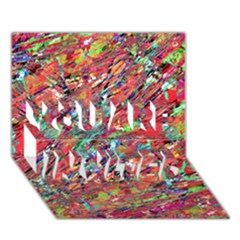 Expressive Abstract Grunge YOU ARE INVITED 3D Greeting Card (7x5)