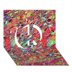 Expressive Abstract Grunge Peace Sign 3D Greeting Card (7x5)