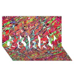 Expressive Abstract Grunge SORRY 3D Greeting Card (8x4)