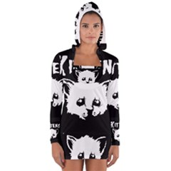 Misfit Kittens Women s Long Sleeve Hooded T-shirt
