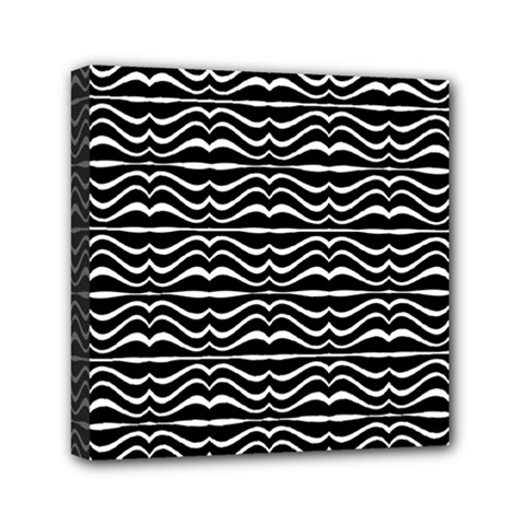 Modern Zebra Pattern Mini Canvas 6  x 6