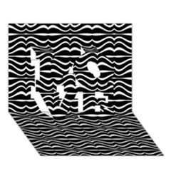Modern Zebra Pattern LOVE 3D Greeting Card (7x5)