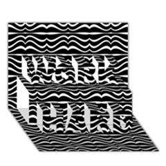 Modern Zebra Pattern WORK HARD 3D Greeting Card (7x5)
