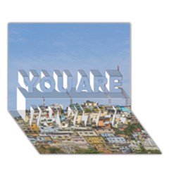 Cerro Santa Ana Guayaquil Ecuador YOU ARE INVITED 3D Greeting Card (7x5)