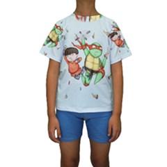 Mike & Tum Tum Kid s Short Sleeve Swimwear