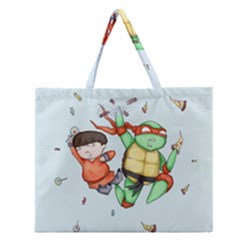 Mike & Tum Tum Zipper Large Tote Bag