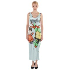 Mike & Tum Tum Fitted Maxi Dress
