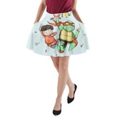 Mike & Tum Tum A-Line Pocket Skirt