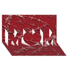 Thorny Abstract,red MOM 3D Greeting Card (8x4)