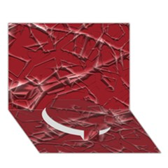 Thorny Abstract,red Circle Bottom 3D Greeting Card (7x5)