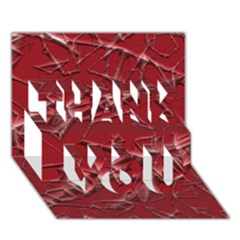 Thorny Abstract,red THANK YOU 3D Greeting Card (7x5)