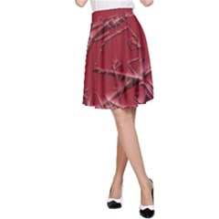 Thorny Abstract,red A-Line Skirt