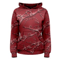 Thorny Abstract,red Women s Pullover Hoodie