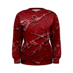 Thorny Abstract,red Women s Sweatshirt