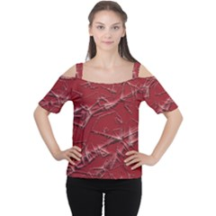 Thorny Abstract,red Women s Cutout Shoulder Tee