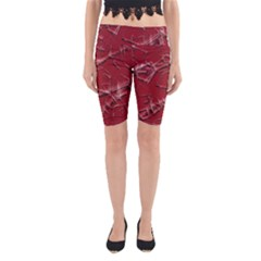 Thorny Abstract,red Yoga Cropped Leggings