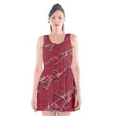 Thorny Abstract,red Scoop Neck Skater Dress