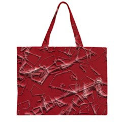Thorny Abstract,red Large Tote Bag