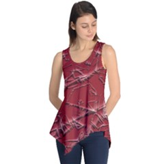 Thorny Abstract,red Sleeveless Tunic