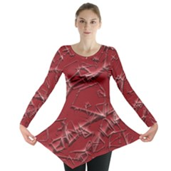 Thorny Abstract,red Long Sleeve Tunic