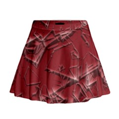 Thorny Abstract,red Mini Flare Skirt