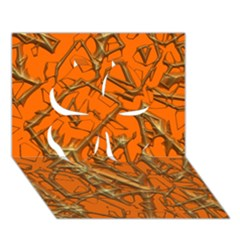 Thorny Abstract, Orange Clover 3D Greeting Card (7x5)