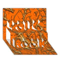 Thorny Abstract, Orange You Rock 3D Greeting Card (7x5)