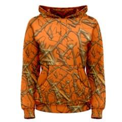 Thorny Abstract, Orange Women s Pullover Hoodie