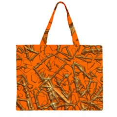 Thorny Abstract, Orange Large Tote Bag