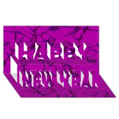 Thorny Abstract,hot Pink Happy New Year 3D Greeting Card (8x4)